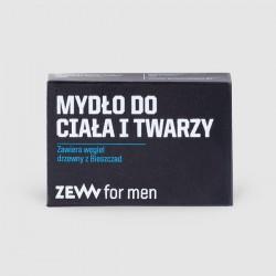 ZEW for men Mydło do Ciała i Twarzy z węglem drzew