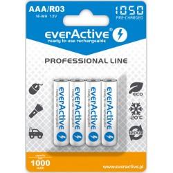 EverActive Akumul. Prof. R03 AAA Ni-MH 1050mAh 4sz