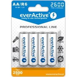 EverActive Akumulatorki. Prof. R6 AA Ni-MH 2600mAh 4szt