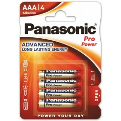PANASONIC PRO POWER baterie alkaliczne AAA LR03 4szt
