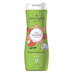 ATTITUDE Płyn do Ciała i szampon 2w1 dla dzieci, Arbuz i Kokos, 473 ml