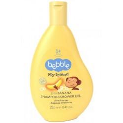 BEBBLE 250ml Szampon i żel do kąpieli 2in1 - banan