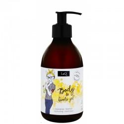 LaQ Hands&body gel żel do rąk i pod prysznic - banan 300 ml