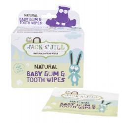Jack N' Jill Naturalne chusteczki do mycia dziąseł niemowląt - 25 sztuk
