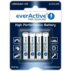 Baterie alkaliczne AAA / LR03 everActive Pro - 4 sztuki (blister)