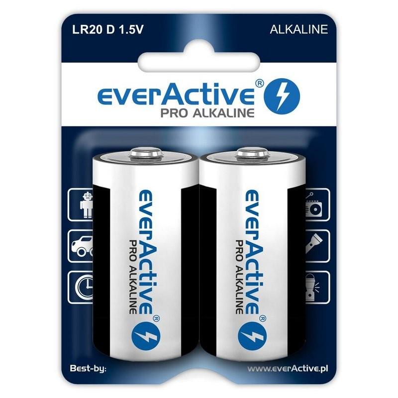 Baterie alkaliczne D / LR20 everActive Pro - 2 sztuki (blister)